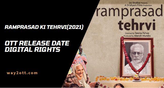 Ramprasad Ki Tehrvi Netflix Release Date